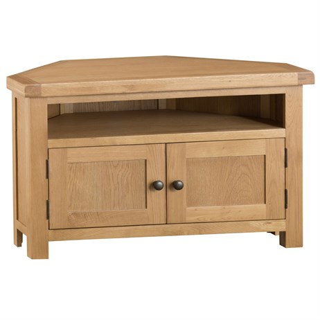 Interior Furniture - Oak Corner TV Unit