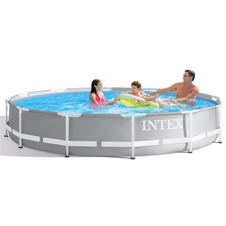 Intex 12ft X 30in Prism Frame Swimming Pool Set Including Pump (26712UK)