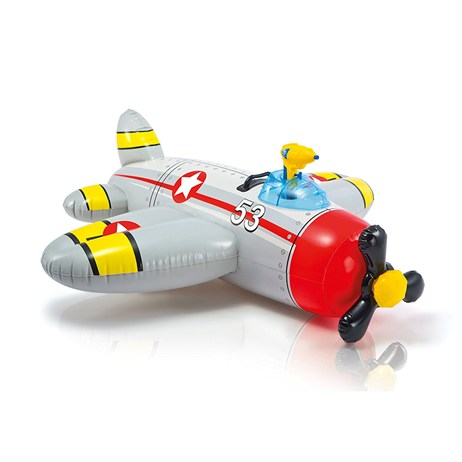 Intex Ride-On Swimmer - Water Gun Plane Ride-On - Red (57537NP)