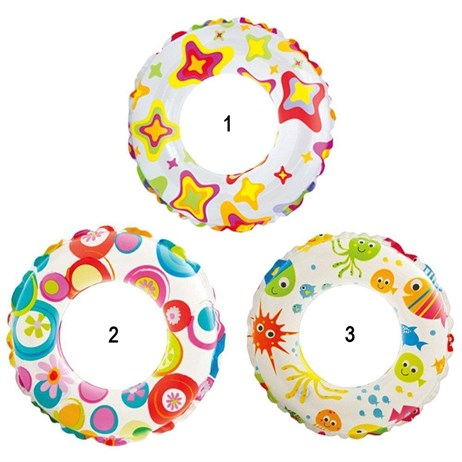 Intex Rubber Ring - Lively Print Swim Rings (59230NP)