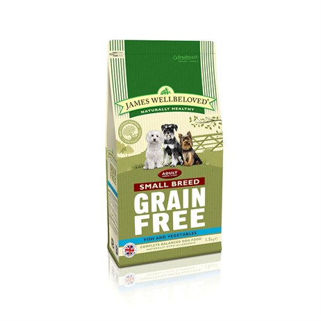 James Wellbeloved Fish Grain Free - Small Breed Adult 1.5Kg (6344015)