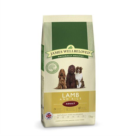 James Wellbeloved Lamb & Rice Kibble Dog Food - Adult Maintenance 15Kg (6004150)