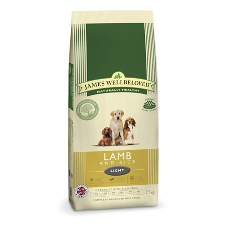 James Wellbeloved Lamb & Rice Kibble Dog Food - Light 12.5Kg (6005125)