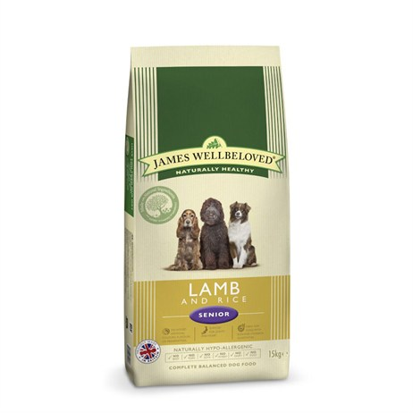 James Wellbeloved Lamb & Rice Kibble Dog Food - Senior 15Kg (6006150)