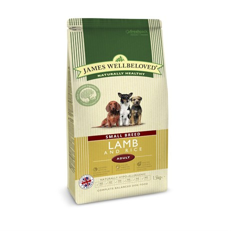 James Wellbeloved Lamb & Rice Kibble Dog Food - Senior Small Breed 1.5Kg (6070015)