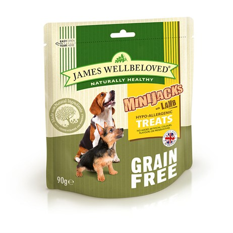 James Wellbeloved Minijacks Dog Treats - Grain Free Lamb 90G (7748101)
