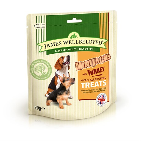 James Wellbeloved Minijacks Dog Treats - Turkey 90G (7745001)