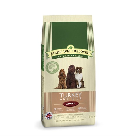 James Wellbeloved Turkey & Rice Kibble Dog Food - Adult Maintenance 15Kg (6104150)