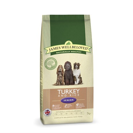 James Wellbeloved Turkey & Rice Kibble Dog Food - Senior 2Kg (6106020)