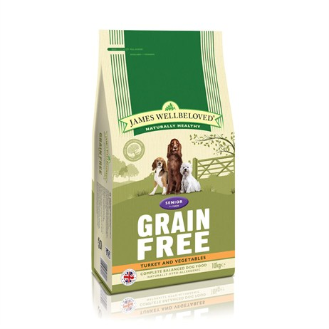James Wellbeloved Turkey Grain Free - Senior 10Kg (6160100)