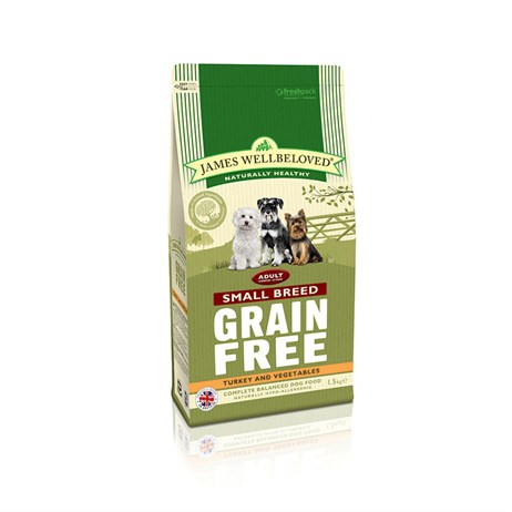 James Wellbeloved Turkey Grain Free - Small Breed Adult 1.5Kg (6123015)