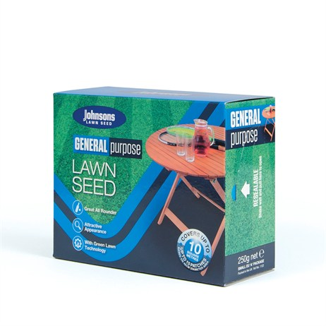 Johnsons General Purpose Lawn Grass Seed 250g 10sqm