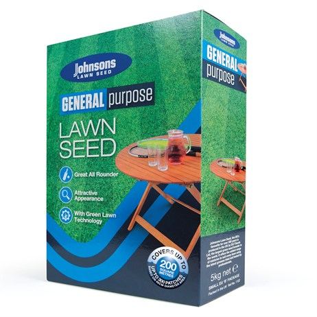 Johnsons General Purpose Lawn Grass Seed 5kg 200sqm
