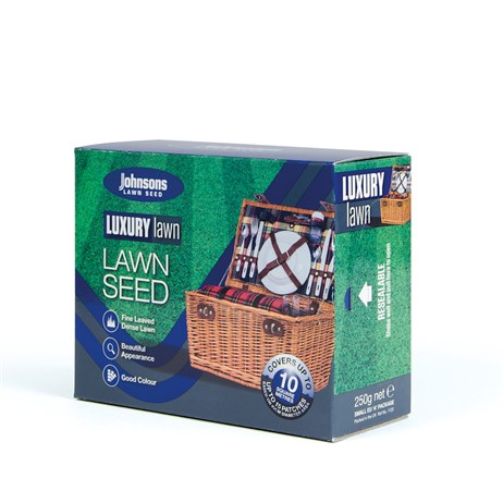 Johnsons Luxury Lawn Grass Seed 250g 10sqm