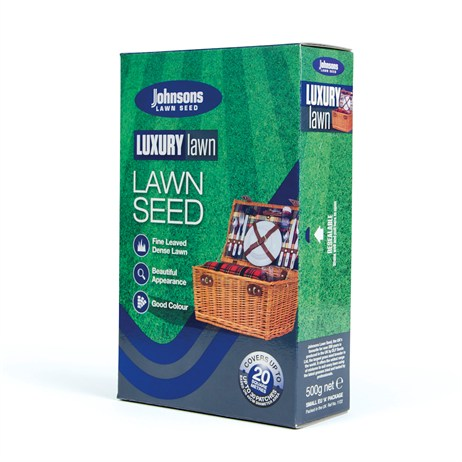 Johnsons Luxury Lawn Seed 500g 20sqm