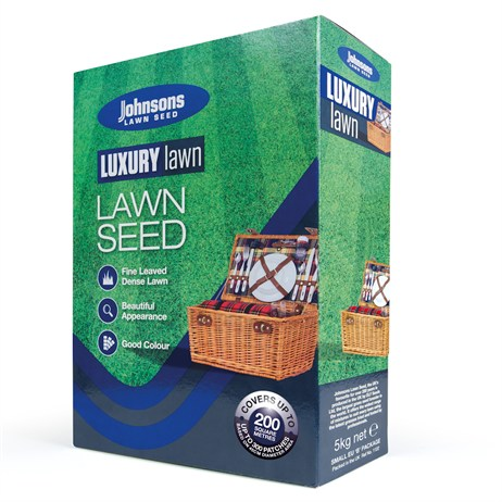 Johnsons Luxury Lawn Grass Seed 5kg 200sqm