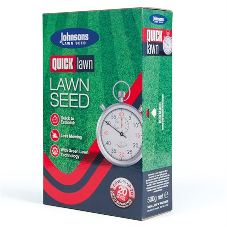 Johnsons Quick Lawn Grass Seed 500g 20sqm