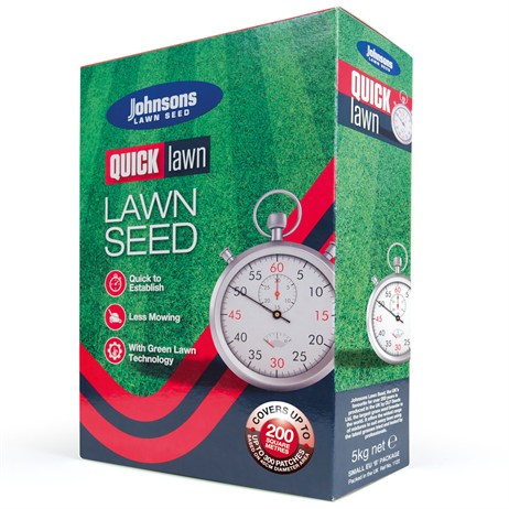 Johnsons Quick Lawn Grass Seed 5kg 200sqm