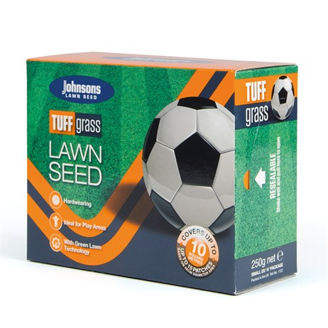 Johnsons Tuffgrass Lawn Grass Seed 250g 10sqm