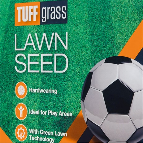 Johnsons Tuffgrass Lawn Grass Seed 500g + 25% extra free 25sqm