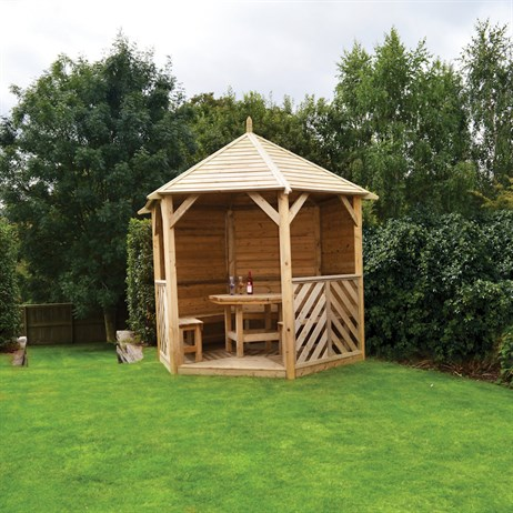 Kelkay Willoughby Gazebo Closed Side with Furniture (650004)