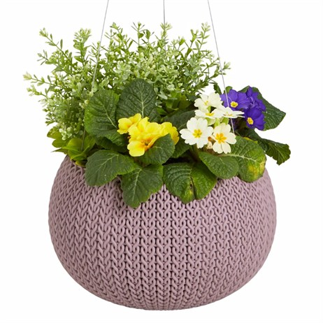Keter Medium Cozie Planter With Hanging Chain - Violet (227735)