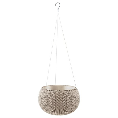 Keter Small Cozie Planter With Hanging Chain - Dune (227700)