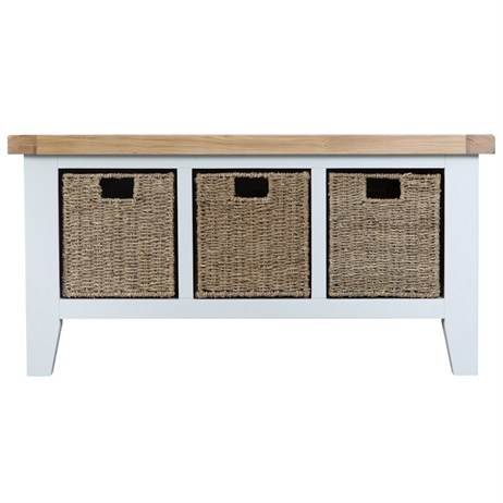 Interior Furniture - Wentworth Large Hall Bench White