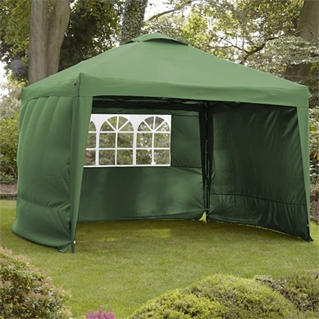Leisuregrow Hamilton 3 Meter Pop-Up Garden Gazebo Side Walls - Forest Green (GAZS12FG)