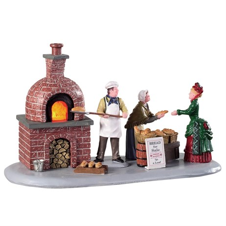 Lemax Christmas Village - Bread Bakers Table Piece - Battery Operated (94530)