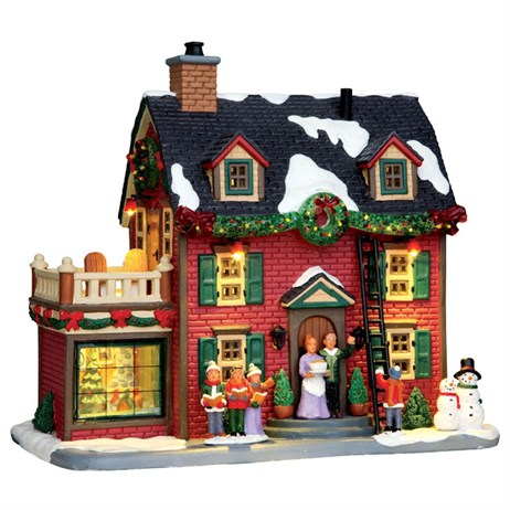 Lemax Christmas Village - Decorating The New England Hearth Building with 4.5V Adapter (45726)