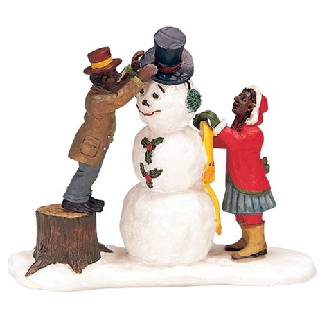 Lemax Christmas Village - Dressing Mr Snowman Figurine (32732)