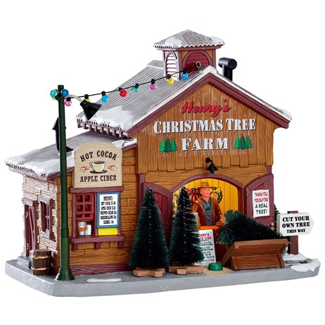 Lemax Christmas Village - Henry's Christmas Tree Farm Building - Battery Operated (75257)
