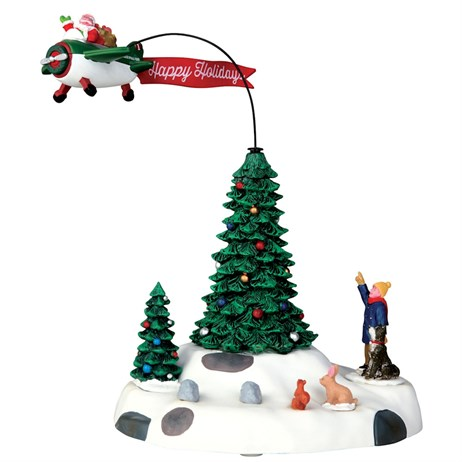 Lemax Christmas Village - Modern Santa Table Piece - Battery Operated (54925)