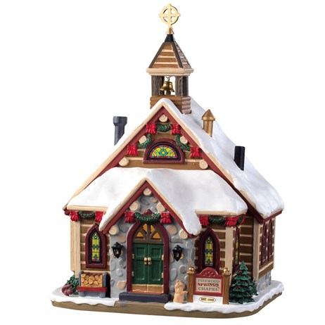 Lemax Christmas Village - Pinewood Springs Chapel Building - Battery Operated (95477)