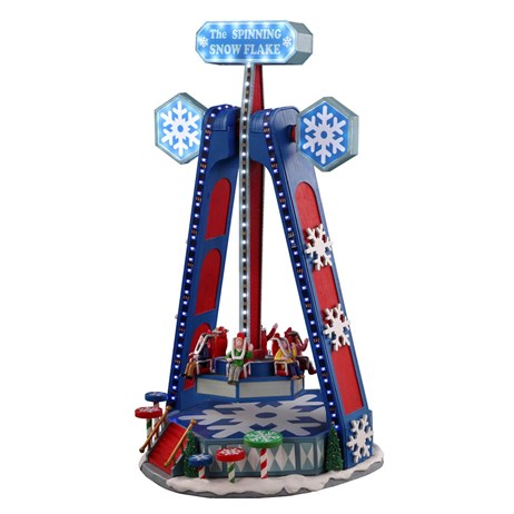 Lemax Christmas Village - The Spinning Snowflake Carnival Ride with Adaptor (04737-UK)