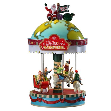 Lemax Christmas Village - Yuletide Carousel Table Piece - Battery Operated (94525)