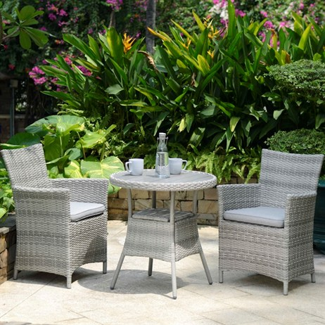 Lifestyle Garden Aruba 2 Seat Bistro Set Outdoor Garden Furniture