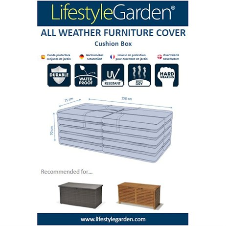 Lifestyle Garden Weather Proof Cover for Casual Dining Cover - 149 x 75cm