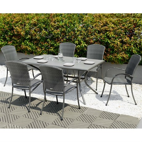 Lifestyle Garden Emelina 6 Seat Rectangular Dining Set