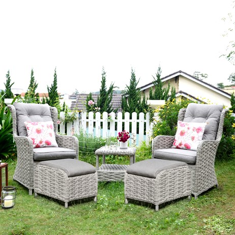 Lifestyle Garden Samoa Companion Chair & Table Set Outdoor Garden Furniture