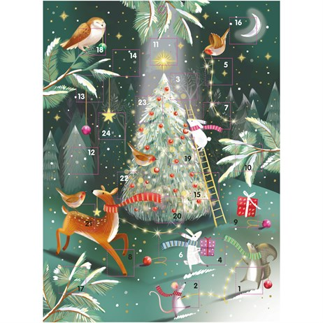 Ling Designs Christmas Advent Card - Forest Friends - 340 x 250 (ADV043)