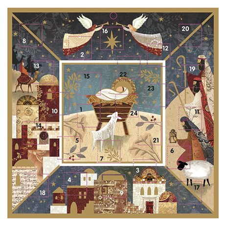 Ling Designs Christmas Advent Card - The Nativity - 230 x 230 (ADV042)