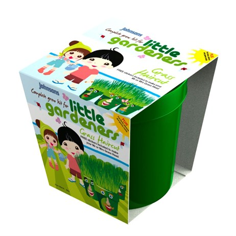 Little Gardeners Grass Haircut Grow Pot (21800)