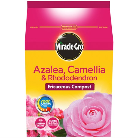 Miracle-Gro Azalea Camellia & Rhododendron Ericaceous Compost 8L (100003)