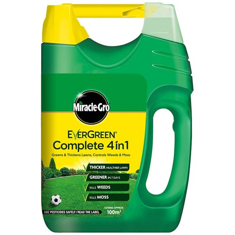 Miracle-Gro Evergreen Complete Lawn Food, Weed & Moss Control - 100m2 (119680)