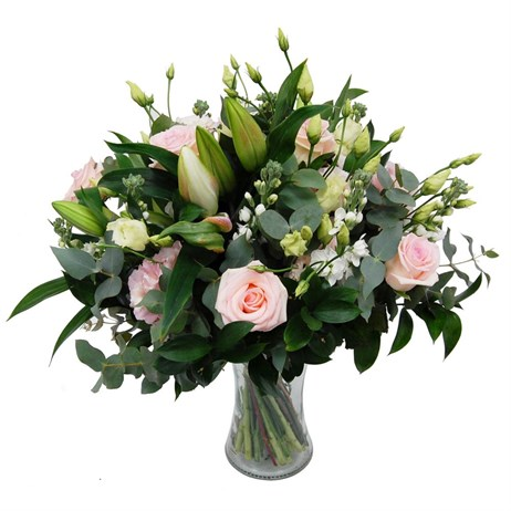 Devotion Pink Rose Mixed Mother's Day Floral Hand Tied Bouquet