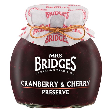 Mrs Bridges Cranberry & Cherry Preserve - 340g (MB8293)