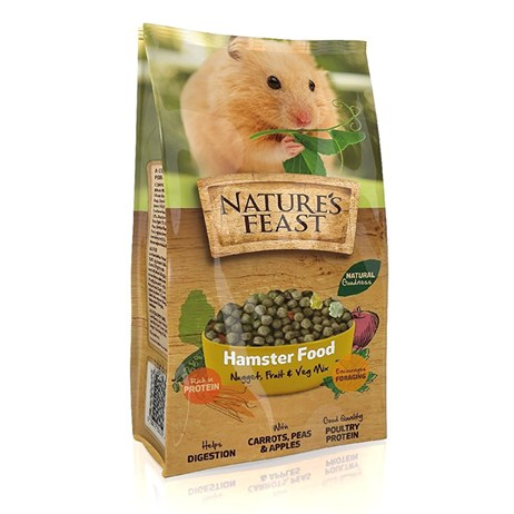 Nature's Feast Hamster Food - Nugget, Fruit & Vegetable Mix - 675g (2600102)