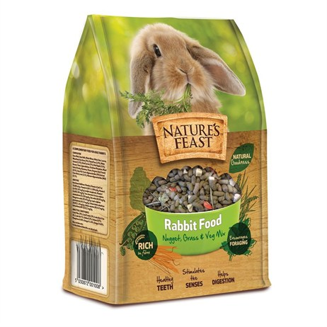 Nature's Feast Rabbit Food - Nugget, Grass & Vegetable Mix - 1.5kg (2600100)